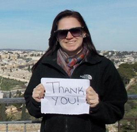 Graduate Student says Thank You