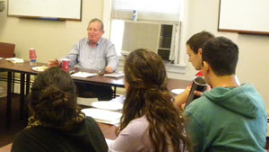 Professor Israel Bartal visits Hebrew literature class