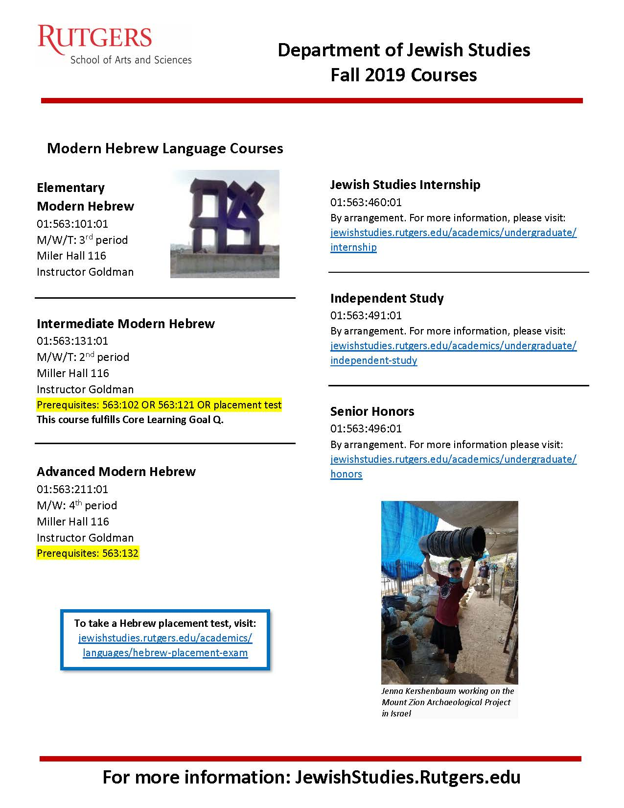 Fall 2019 Course Advertisement Page 2